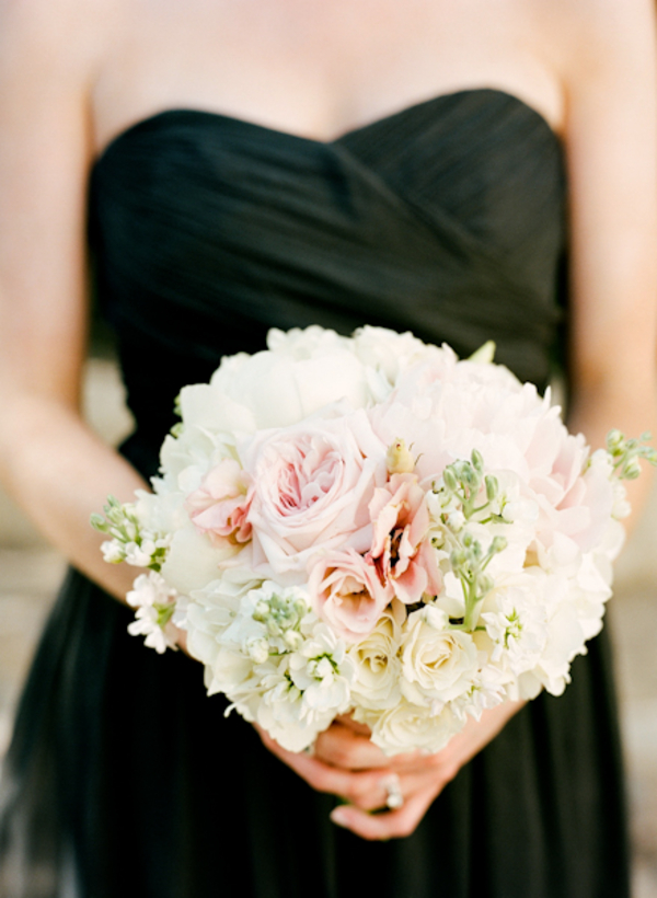 Black-Chiffon-Bridesmaids-Dresses