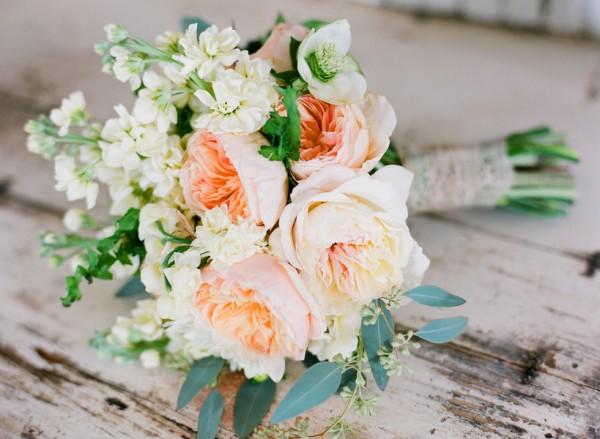 Blush and Peach Wedding Bouquet