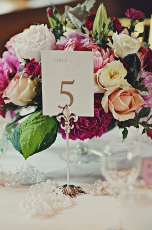 Bright and Colorful Wedding Centerpiece