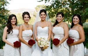 Champagne-Bridesmaids-Dresses
