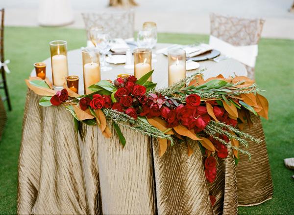 Champagne Red Elegant Wedding Ideas