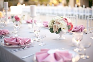Classic Pink and Grey Wedding