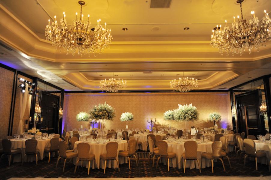 classy and elegant hotel ballroom wedding reception elizabeth anne designs the wedding blog. Black Bedroom Furniture Sets. Home Design Ideas