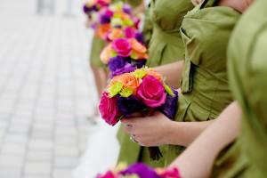 Colorful Bridesmaids Bouquet