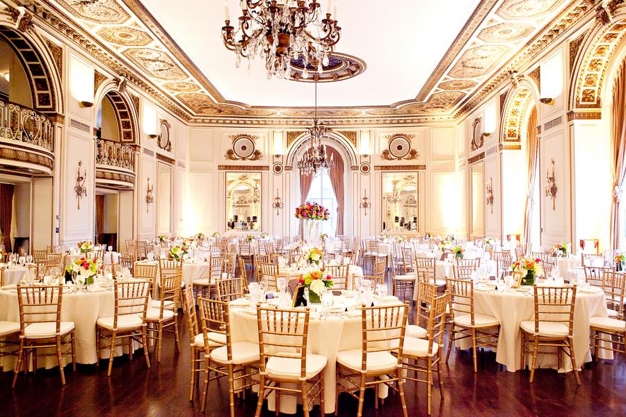Colorful elegant wedding reception elizabeth anne for Design your wedding reception