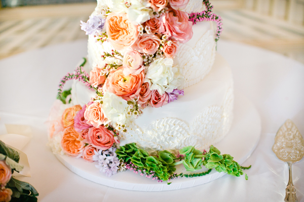 Colorful Floral Wedding Cake