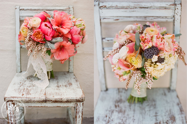Coral-and-Peach-Bouquets