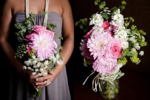Dahlia and Queen Annes Lace Bouquet