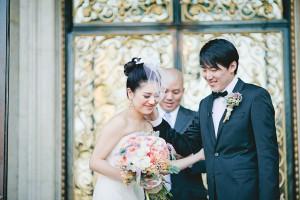 Elegant Coral California Wedding by Connie Lyu 10