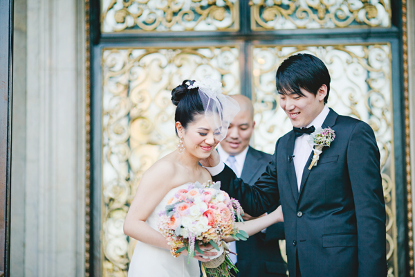 Elegant Coral California Wedding by Connie Lyu 10