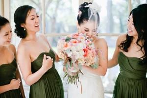 Elegant Coral California Wedding by Connie Lyu 12