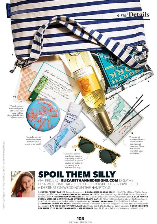 Elizabeth Anne Designs in Brides Magazine