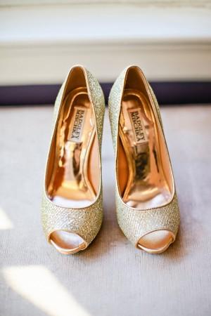 Gold Badgley Mischka Wedding Shoes