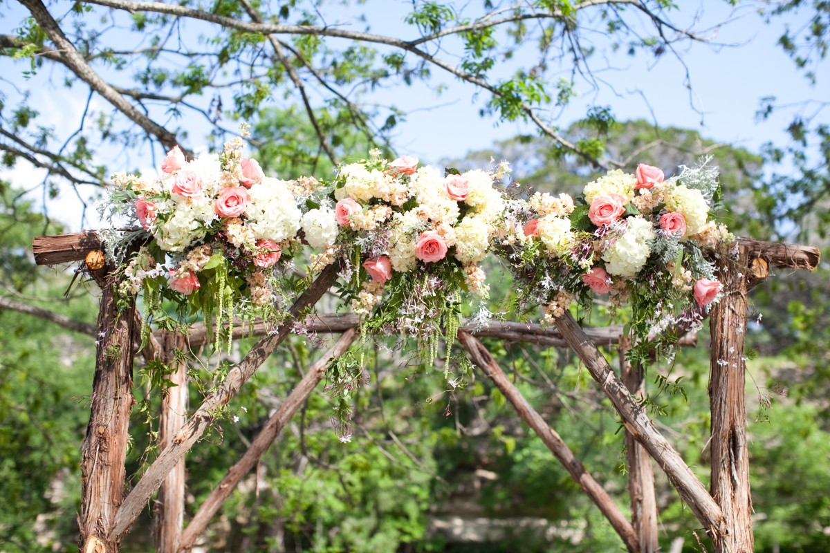 Gorgeous Rustic Floral Wedding Arch