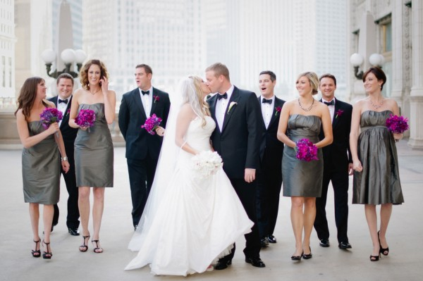 Bridesmaid gray dresses with purple flowers recommendations dress for on every day in 2019
