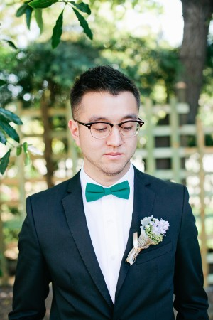 Grooms Green Bow Tie