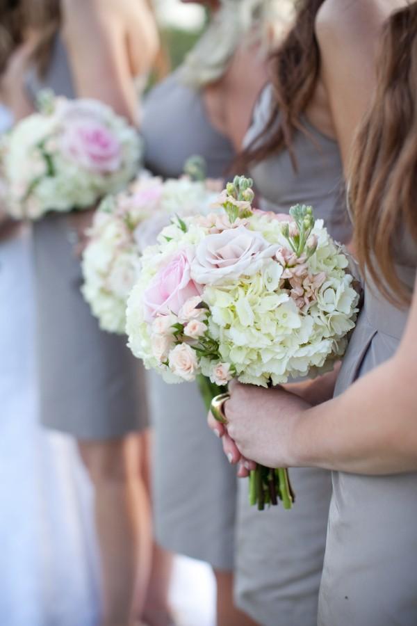 Hydrangea Rose Wedding Bouquets