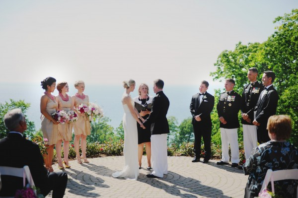 Lakefront Military Wedding