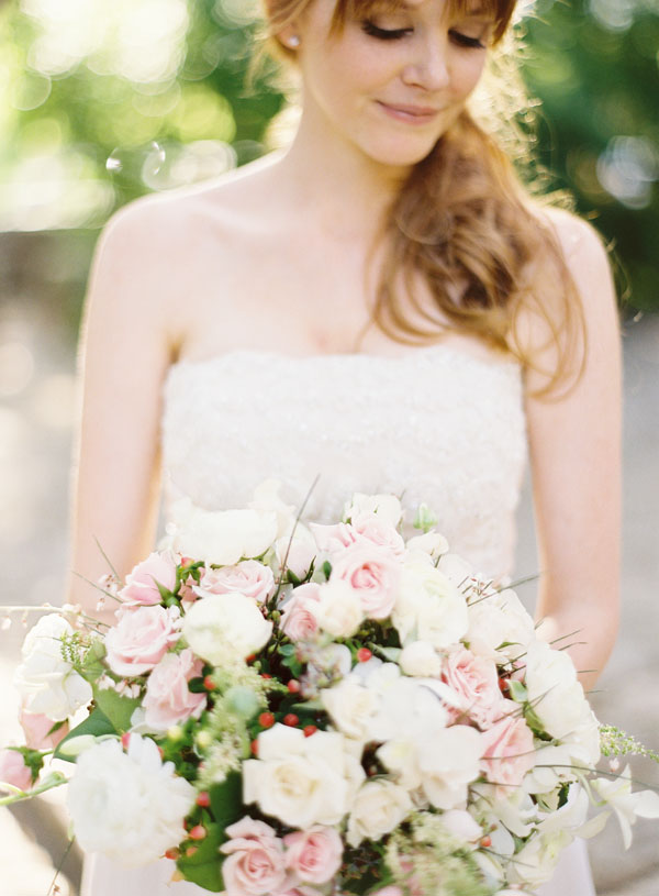 Large White and Pink Rose Bouquet
