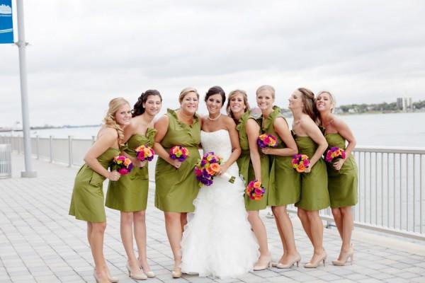 Lime Green Bridesmaids Dresses