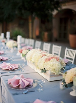 Long Farm Table Centerpieces