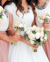 Mauve-and-Ivory-Bridesmaids-Dresses