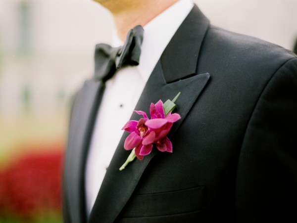 Orchid-Boutonniere