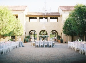 Outdoor Family Style Wedding Reception