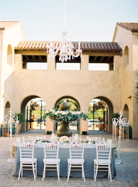Outdoor Wedding Estate Tables Chandeliers