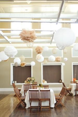 Paper Lanterns Tissue Poms