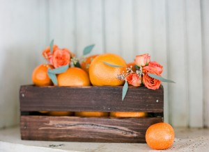 Peach and Tangerine Floral Inspriation by FH Weddings and Events