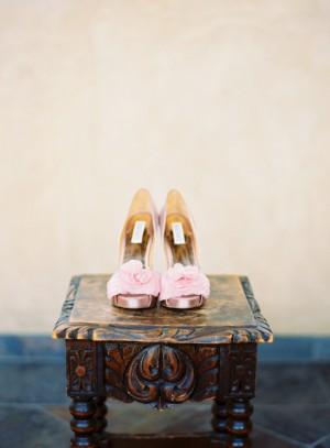 Pink Badgley Mischka Ruffle Heels