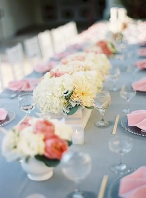 Pink Blue Elegant Wedding Table