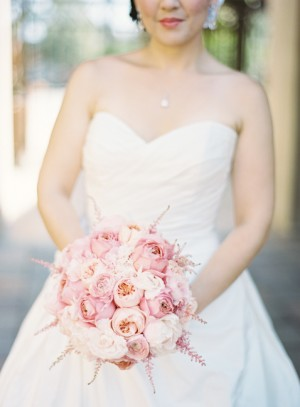 Pink Rose and Astilbe Bouquet