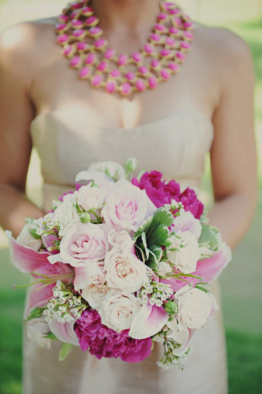 Raspberry Fuschia Wedding Bouquet