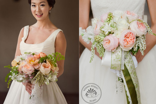Romantic-Pink-and-Green-Wedding-Bouquets