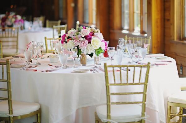 Romantic Raspberry and Gold Wedding