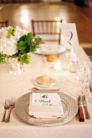 Silver Wedding Place Settings