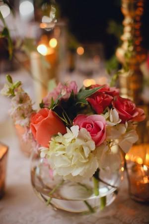 Small Fishbowl Wedding Centerpiece