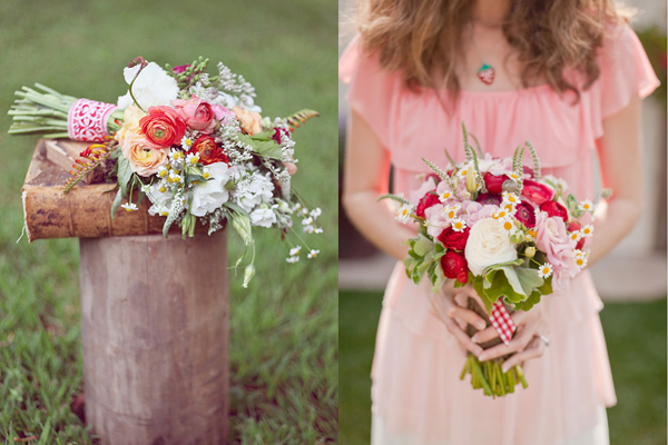 Strawberry Summer Bouquets