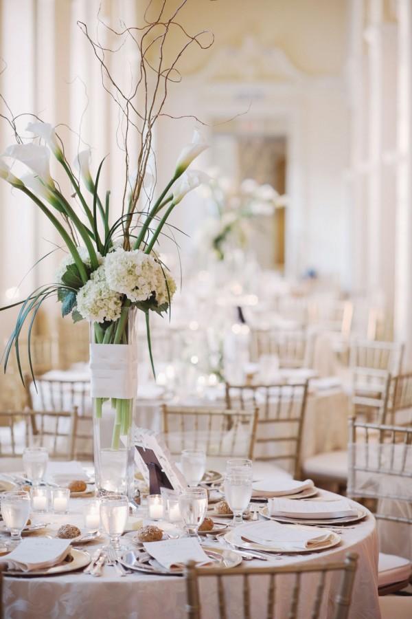 Tall White Wedding Centerpiece Ideas Elizabeth Anne Designs The