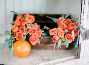 Tangerine Tango Wedding Bouquets