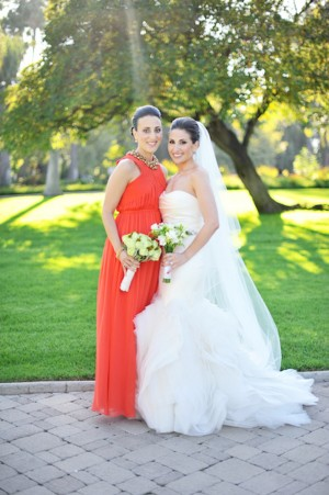 Tomato-Red-Bridesmaids-Gown