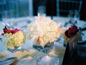 White-Hydrangea-and-Orchid-Centerpiece