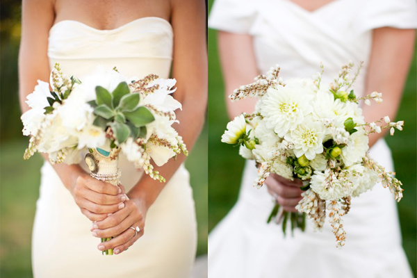 White-and-Green-Wedding-Bouquets