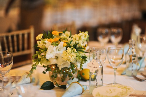 Yellow-White-and-Green-Centerpiece