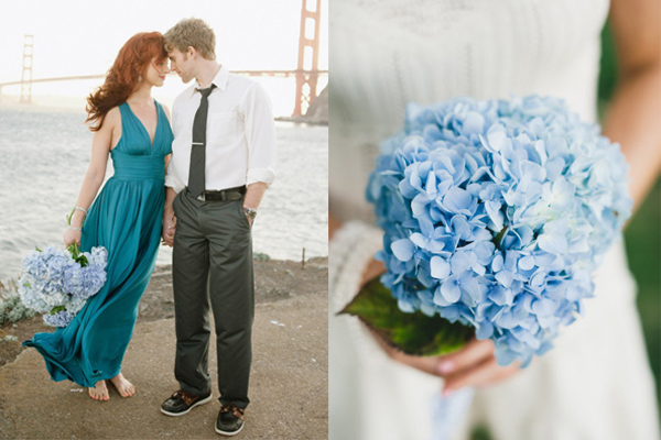 All Blue Hydrangea Bouquets