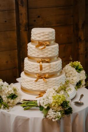 Basketweave Wedding Cake