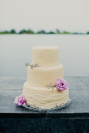 Beach Sand Inspired Wedding Cake