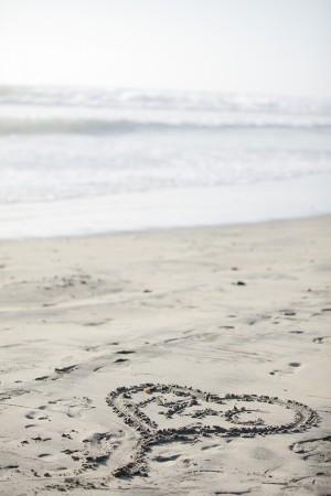 Beach Wedding Sand Heart
